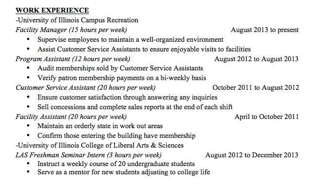 "Check Out This ""Before"" And ""After"" Resume A Student"