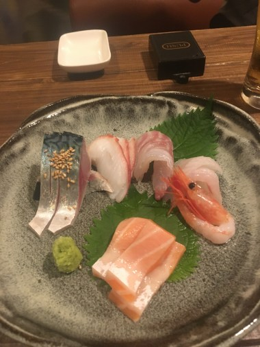 Fantastic sashimi, especially mackerel