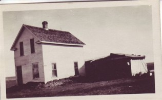 Old farmhouse in Dinsmore Saskatchewan 1921