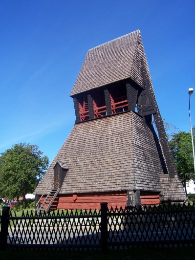 one of the oldest church bell towers in Sweden dating from the 1600s