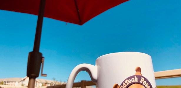 Currently. Caffeine via vintage EdTech Posse mug like it's 2008 or something…