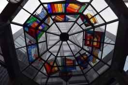 """A stained glass """"awning"""""""