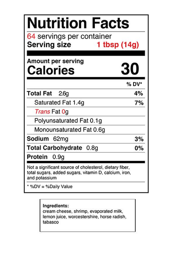 Shrimp Nut Label