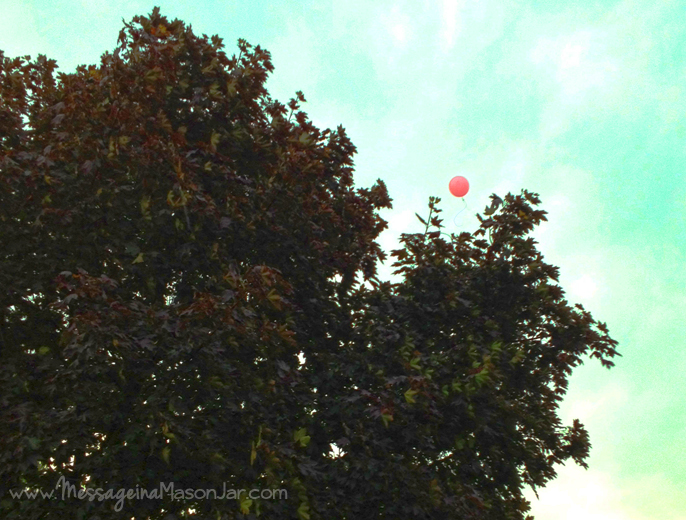 Google Balloons and the Gospel {A Less Digital Life…Day 20}