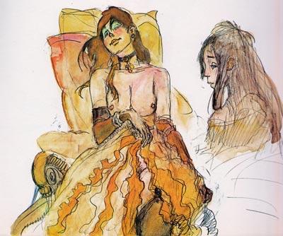Femme en jaune