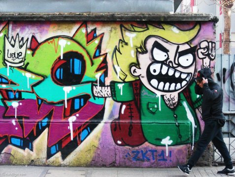 Santiago: this graffiti is now gone