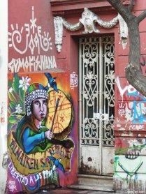 Street art: native drummer