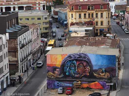 Valparaiso Street Art as seen from Museo Nautico