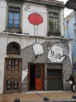 Valparaiso Street Art. Also part of a theme: the grandma