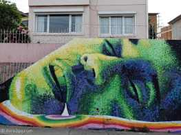 StreetArt: long wall in Valparaíso, part 1