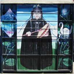 Carahue: facade of a closed kiosk