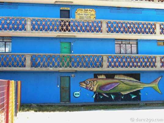 Coronel: art on an apartment block