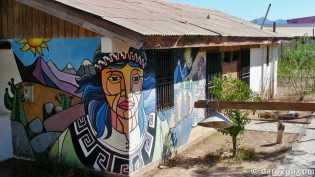 Monte Patria: wallart on a neighbourhood centre