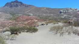 small sand dunes along Ruta 40