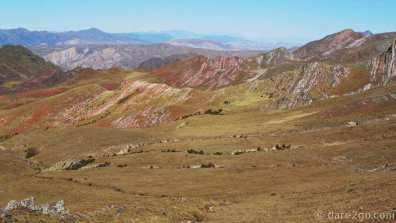 Beautifully coloured mountains in the Parque Nacional Los Cardones