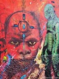 Valparaiso StreetArt: simple but very intense face of an African youth