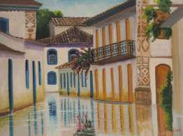 When the tide is really high all streets in Paraty get really flooded with sea water – as this painting shows. Some say that used to be the towns only sanitation...