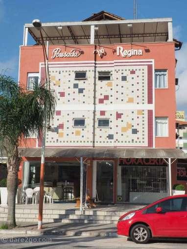 Personally I found this a very creative and simple tile design on a facade of a Pousada in Canasvieiras.