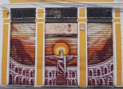 The facade of a restaurant