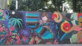 A colourful wall in Santa Teresa/Rio