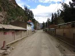 After Tingo Chico the road became much more potholed. The mud up the walls shows how often it has been very wet.