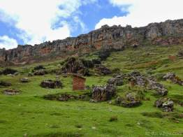 The mountain range at 4,000 metres - part of these cliffs is the 'Corona del Inca'