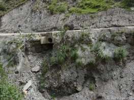 Scary: that culvert is pretty much hanging in the air - with the road surface above it. Glad our Berta is so 'light'...