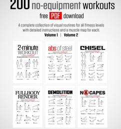 200 no equipment workouts [ 930 x 1316 Pixel ]