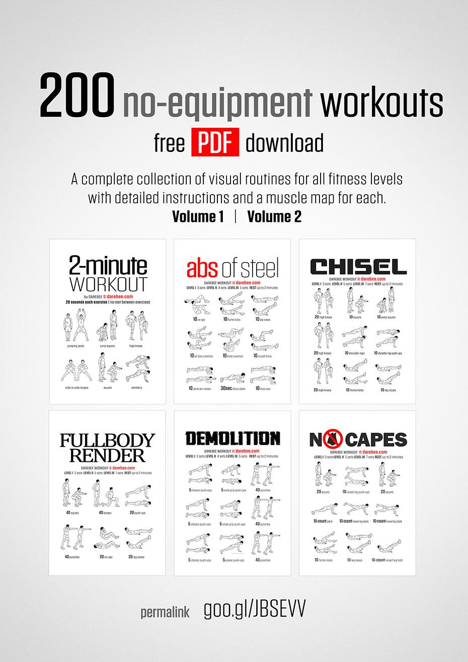 medium resolution of 200 no equipment workouts