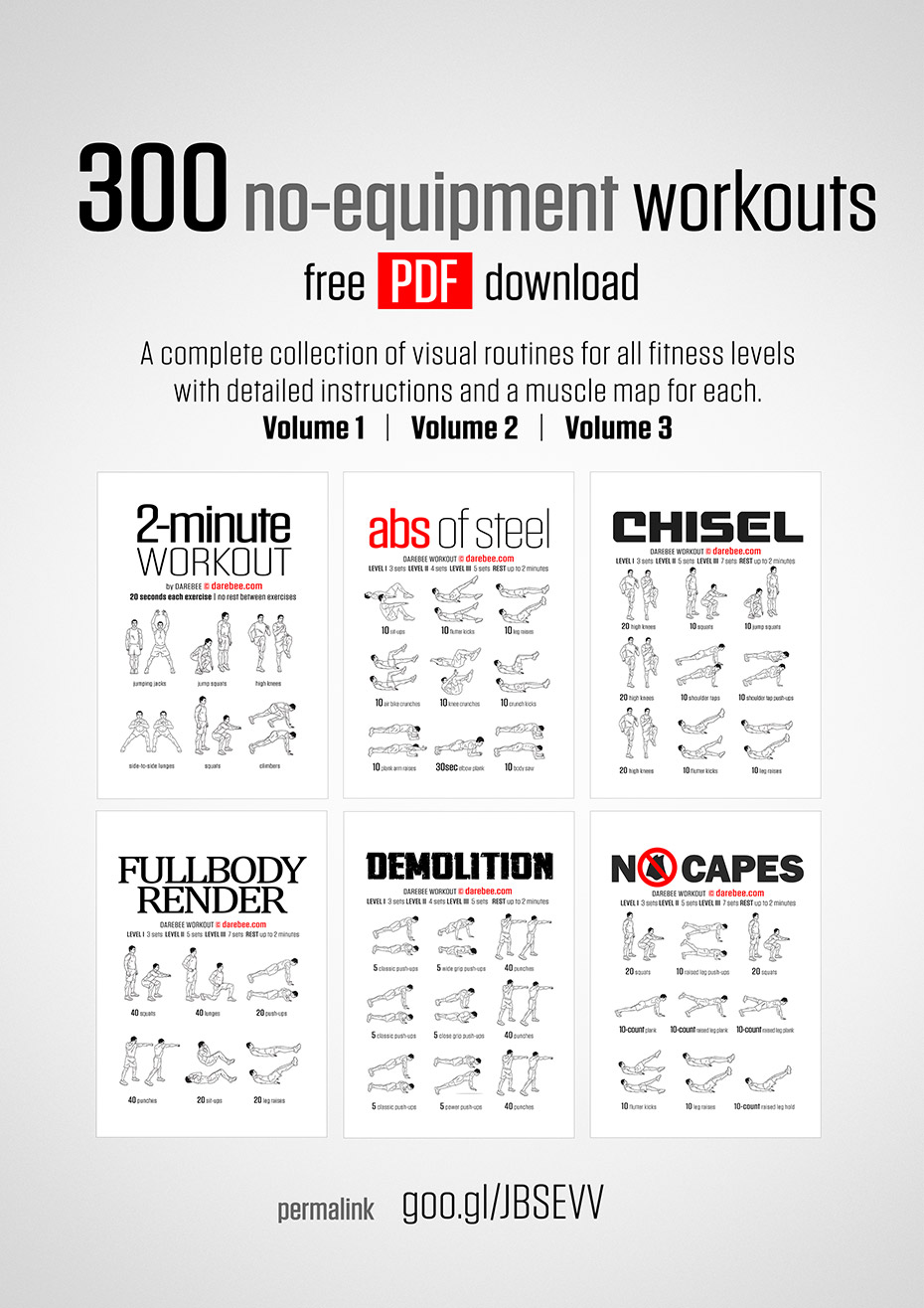 no equipment workout collections