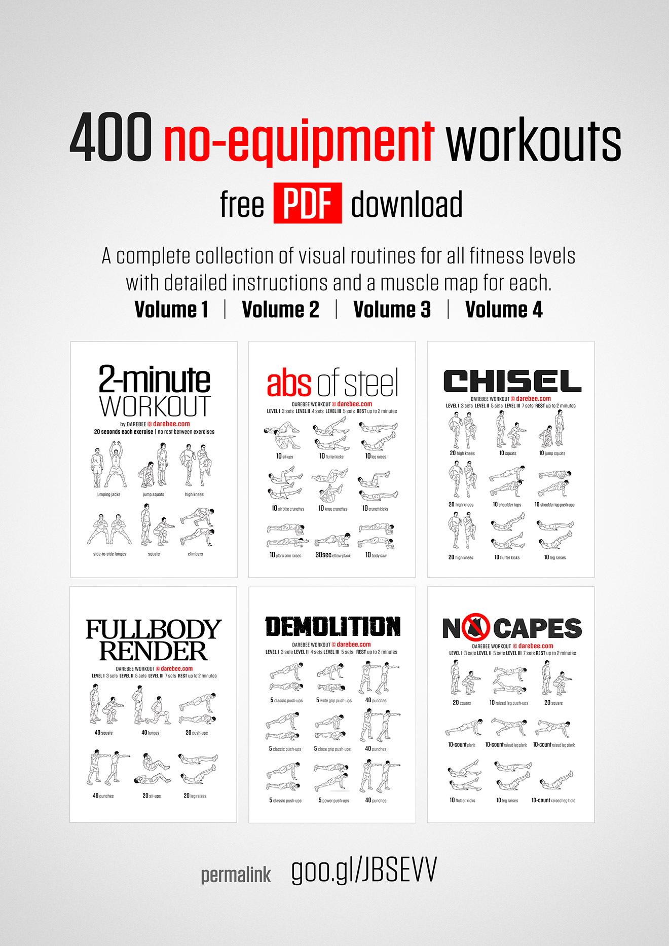 Dumbbell Workout Plan Pdf : dumbbell, workout, No-Equipment, Workout, Collections