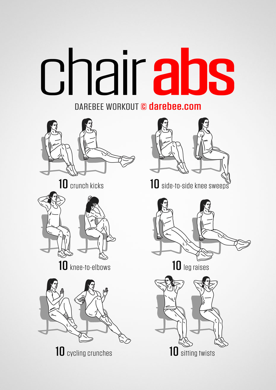 Chair Exercise Chair Abs Workout