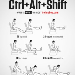 Office Chair Exercises For Abs Recliner Chairs Ikea Ctrl + Alt Shift Workout