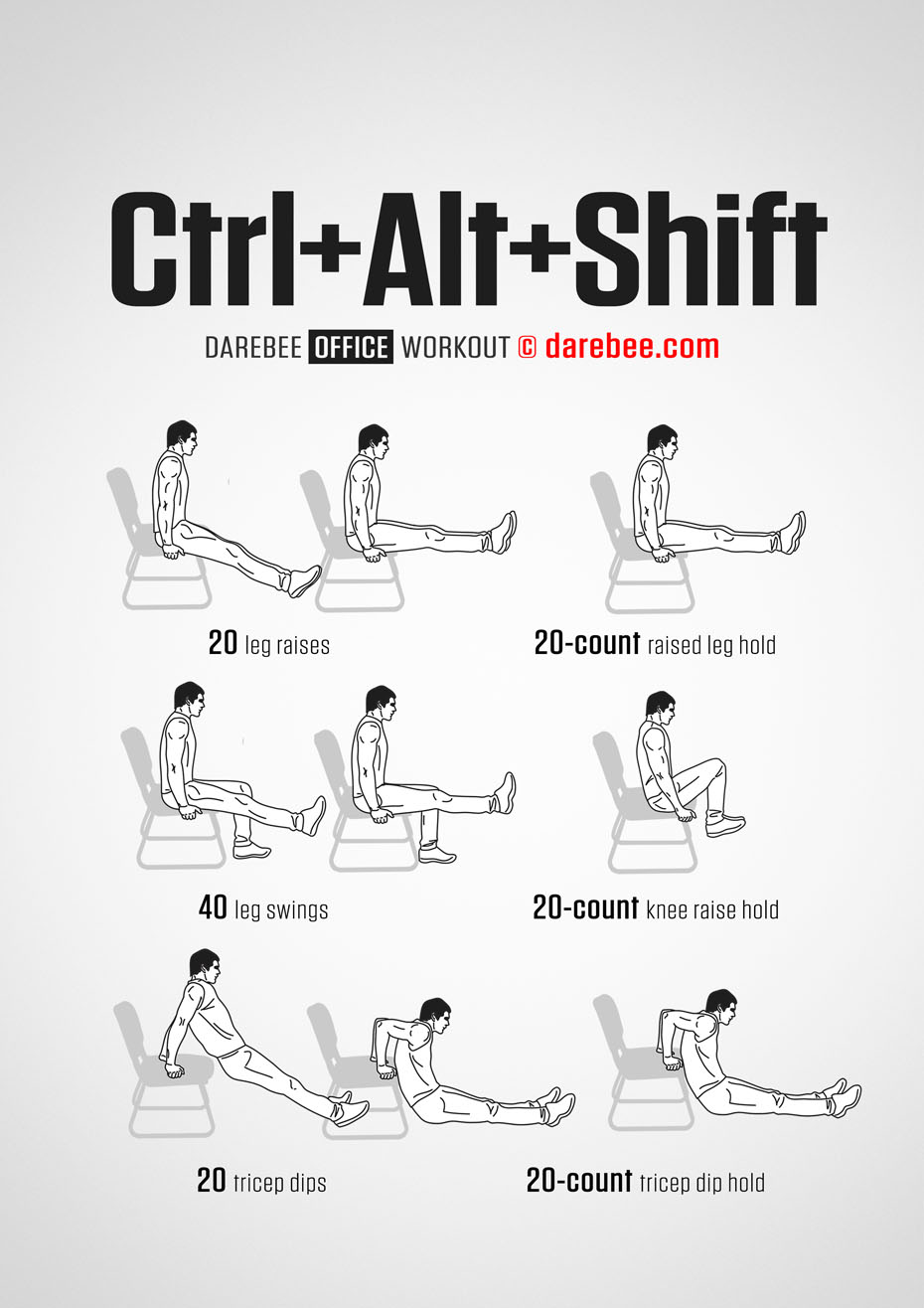 exercise desk chair table and all in one ctrl + alt shift workout