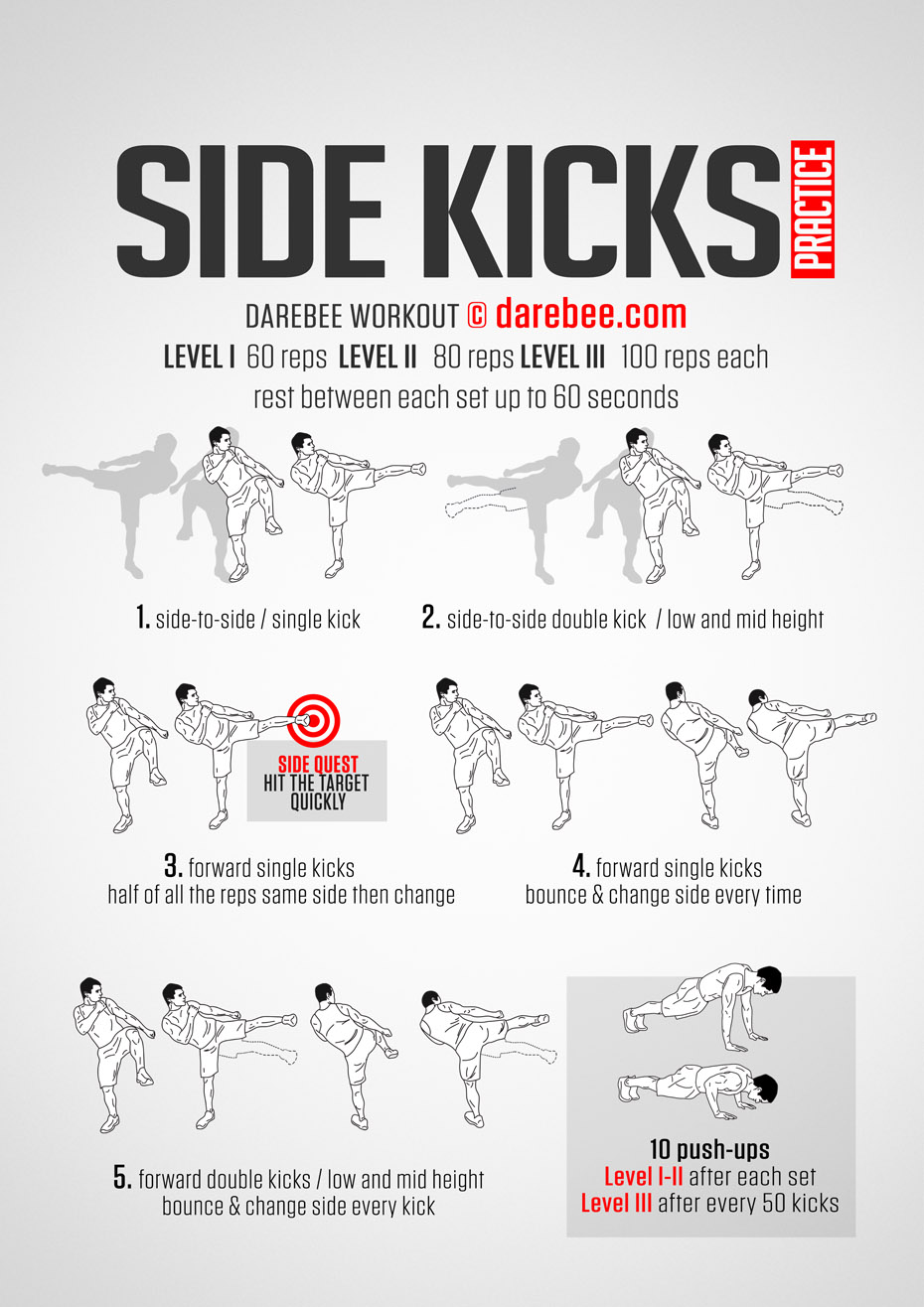 Side Kicks Practice