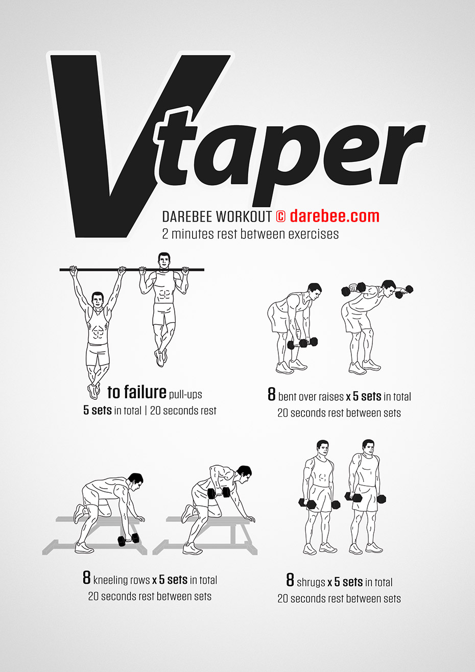 V Taper Workout Without Equipment   EOUA Blog