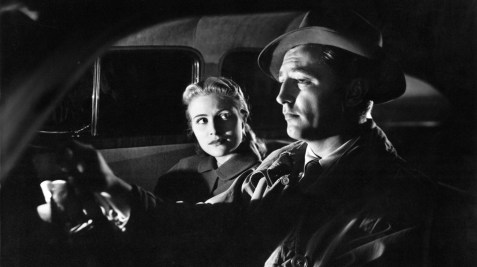 Virginia Huston and Robert Mitchum in a scene from the 1947 movie, Out of the Past.