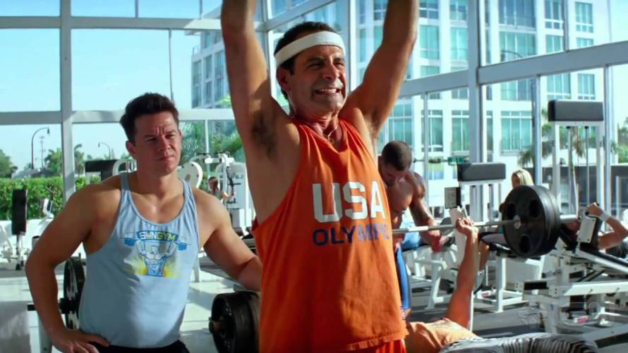 Mark Wahlberg and Tony Shalhoub in Pain & Gain