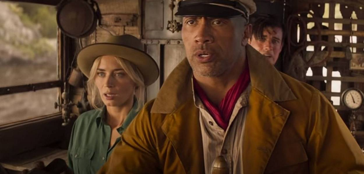 Dwayne Johnson, Emily Blunt and Jack Whitehall in Jungle Cruise (2021)