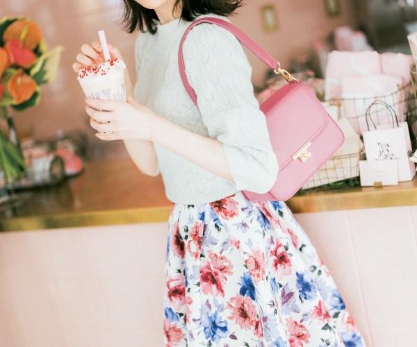 【今日のコーデ】華やかかわいい♡ジェニックなお花柄スカートが主役!