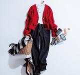 【明日なに着る?】オフの日コーデは手編み風のざっくりカーデを指名!