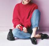【今日のコーデ】清楚見えの簡単テク!ニット×レースブラウスの重ね着で女っぽく♡