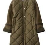 【明日なに着る?】異素材MIXが新しい!着膨れしにくい旬顔キルティングコート