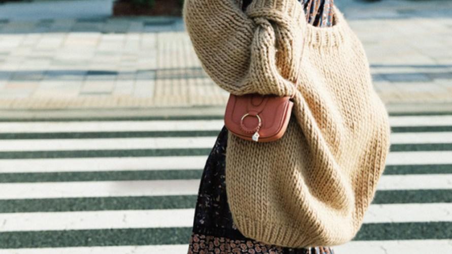【今日のコーデ】BIGカーデで魅せる♡ヴィンテージワンピの冬スタイル