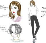 【イラスト解説】かっこいい女の特徴7つ<髪型、服装、メイクのコツ>