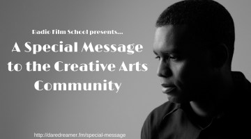 A Special Message to the Creative Arts Community