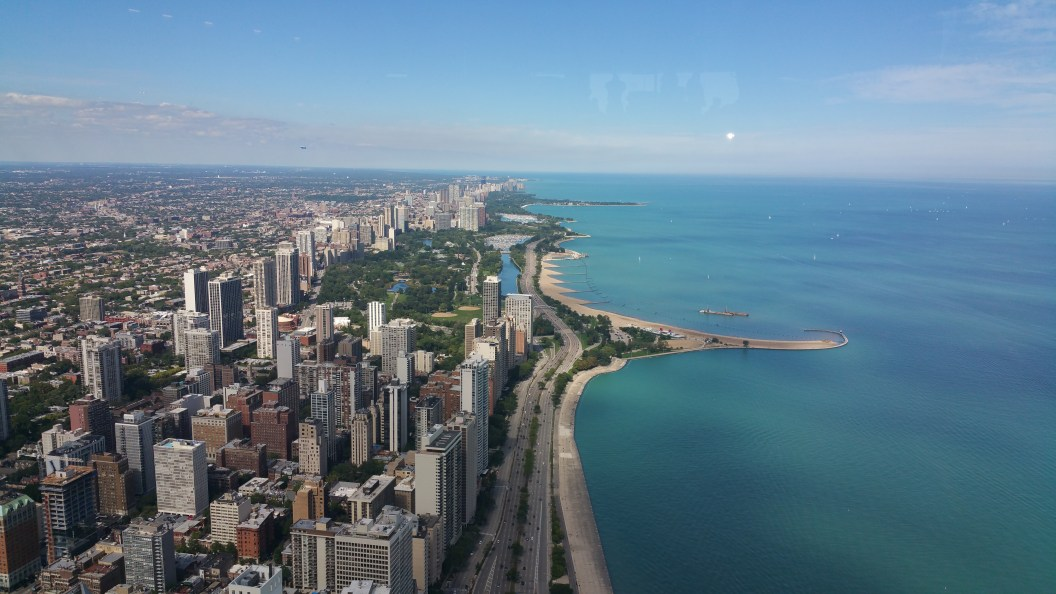 coastline with Chicago skyline