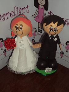 Topo De Bolo Noivinhos Em Eva 3d - Dareliart (4)