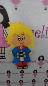 Aplique Pequeno Príncipe em Eva 12x6 cm - Dareliart