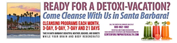 Register for an Anti-Aging Cleanse by the Sea   Click Above for Detailed Flyer